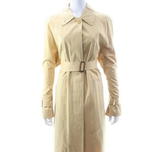 BURBERRY CAMEL FULL LENGTH TRENCH COAT SIZE 14 NEW